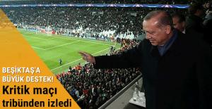 Cumhurbaşkanı Erdoğan'dan Beşiktaş'a destek