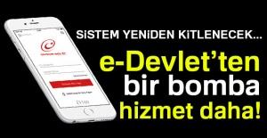 E-devlet'ten yeni bir uygulama daha!