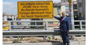 Doğan'dan Büyükşehir'e 'üst geçit' tepkisi