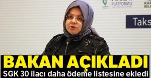 Bakan açıkladı: SGK 30 ilacı daha ödeme listesine ekledi