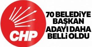 CHP'de 70 belediye başkan adayı daha...