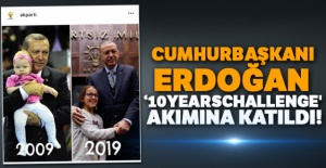 Cumhurbaşkanı Erdoğan '10YearsChallenge' akımına katıldı