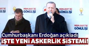 Cumhurbaşkanı Erdoğan yeni sistemi...
