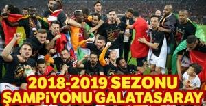2018 - 2019 şampiyonu Galatasaray