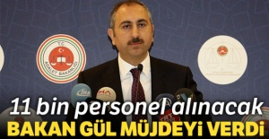 Adalet Bakanlığına 11 bin personel...