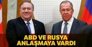 ABD ve Rusya anlaşmaya vardı