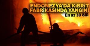 Endonezya'da büyük yangın