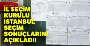 İl Seçim Kurulu, İstanbul seçim sonuçlarını açıkladı