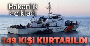 Bakanlık açıkladı: 149 kişi kurtarıldı