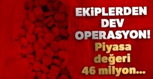 Gümrük Muhafaza ekiplerinden operasyon! Piyasa değeri 46 milyon...
