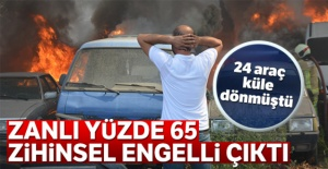 24 aracın küle döndüğü yangını çıkaran kişi yakalandı