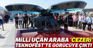 Milli uçan araba 'Cezeri' TEKNOFEST'te görücüye çıktı