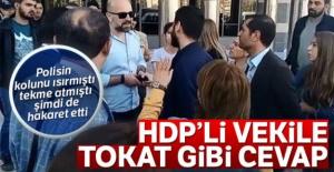 HDPli vekil Aydeniz polise hakaret...