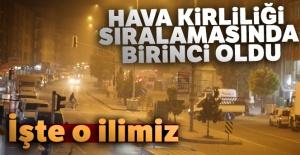 Hava kirliliği sıralamasında o il Türkiye birincisi oldu