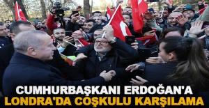 Cumhurbaşkanı Erdoğan'a Londra'da coşkulu karşılama