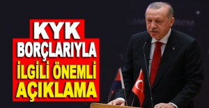 Cumhurbaşkanı Erdoğan'dan KYK borçlarıyla ilgili önemli açıklama