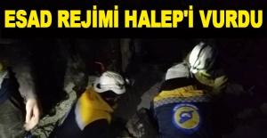Esad rejimi Halep'i vurdu