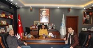 AK Partiden Başkan Tekine ziyaret