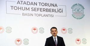 """Bakan Pakdemirli: """"Cumhuriyet tarihinin en kapsamlı yerli tohum seferberliğini başlatıyoruz"""""""