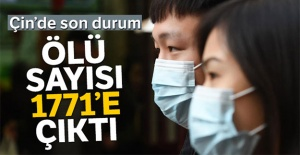 Çin'de korona virüsü nedeniyle ölü sayısı bin 771'e çıktı