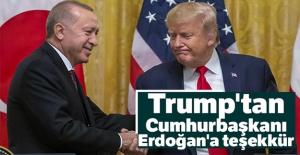 Trump#039;tan Cumhurbaşkanı Erdoğan#039;a...