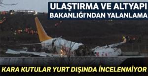 Ulaştırma ve Altyapı Bakanlığı'ndan kaza yapan uçakla ilgili açıklama