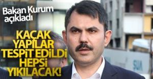 Bakan Kurum'dan kaçak yapı açıklaması