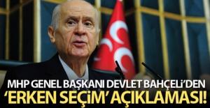 MHP Genel Başkanı Bahçeli: 'Erken seçim söylemi ayıplı bir tuzaktır, kirli bir tertiptir'