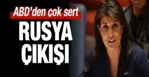 ABD'den Çok Sert Rusya Açıklaması!