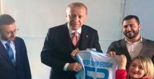 Cumhurbaşkanı Erdoğan, milli sporcu ile görüştü