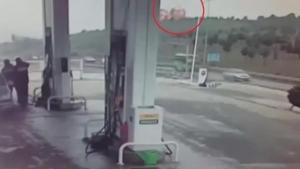 Helikopterin düşme anı kamerada!